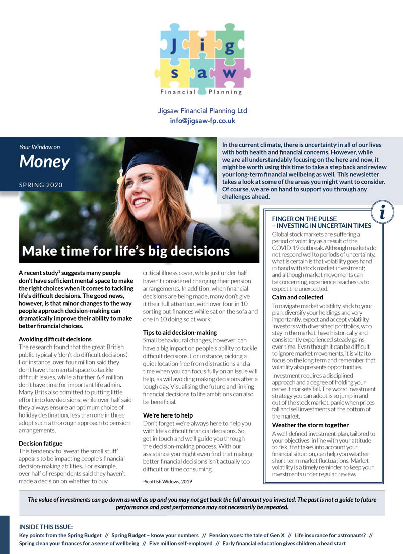 Your Window on Money - download the latest issue